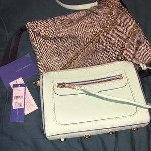 Rebecca Minkoff wintermint crossbody purse